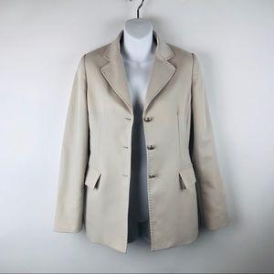 Calvin klein Button front beige blazer jacket
